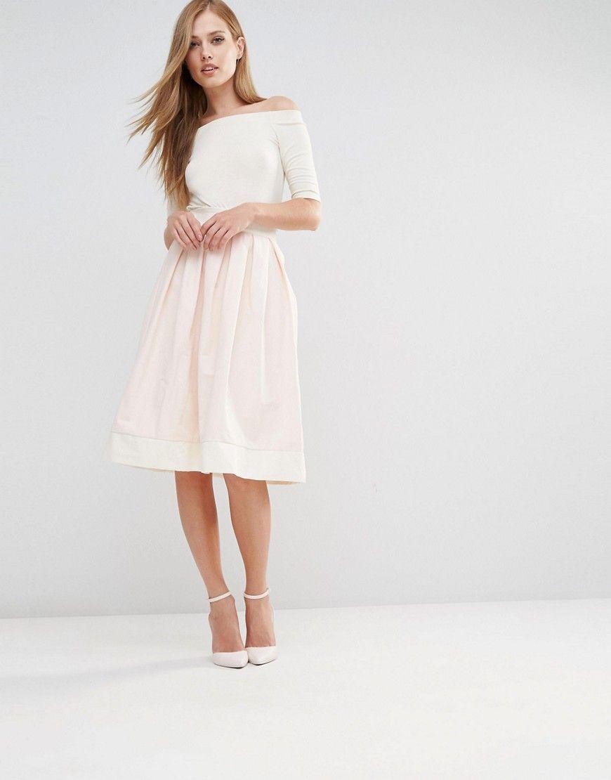 ad5bd1237b Vesper Structured Midi Skirt With Bow Back | Fashion | Pink midi ...