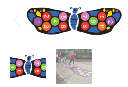 Custom Stencils, Sensory Paths and Indoor Recess Games