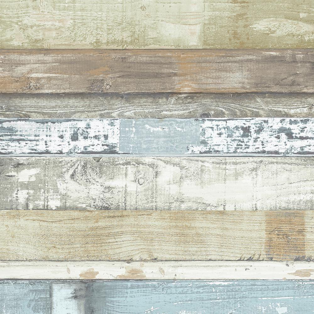 Norwall Beachwood Vinyl Roll Wallpaper Covers 55 Sq Ft Fh37555 The Home Depot Farmhouse Wallpaper Wood Plank Wallpaper Wood Wallpaper