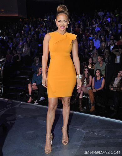 d1992f2be5d Jennifer Lopez wearing Roland Mouret with Giuseppe Zanotti shoes. Jennifer  Lopez wearing Roland Mouret with Giuseppe Zanotti shoes. Orange Dress ...