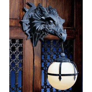 fancy design dragon lamps. Design Toscano Castle Marshgate Dragon Sculptural Electric Wall Sconce