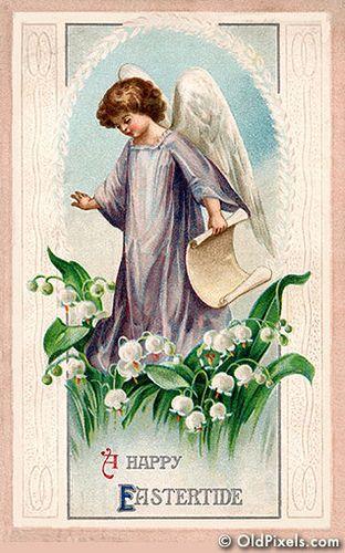 #Easter #vintage #ephemera #angel