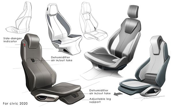 Car Seat Design On Behance Prototype Design Cars Car Interior