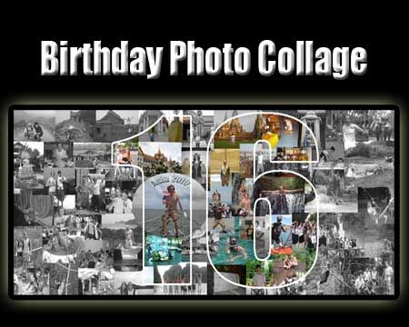 Boyfriend 16th birthday photo collage of themselves together Gift