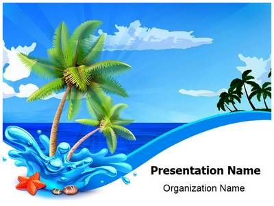 Beach palms powerpoint template is one of the best powerpoint beach palms powerpoint template is one of the best powerpoint templates by editabletemplates maxwellsz