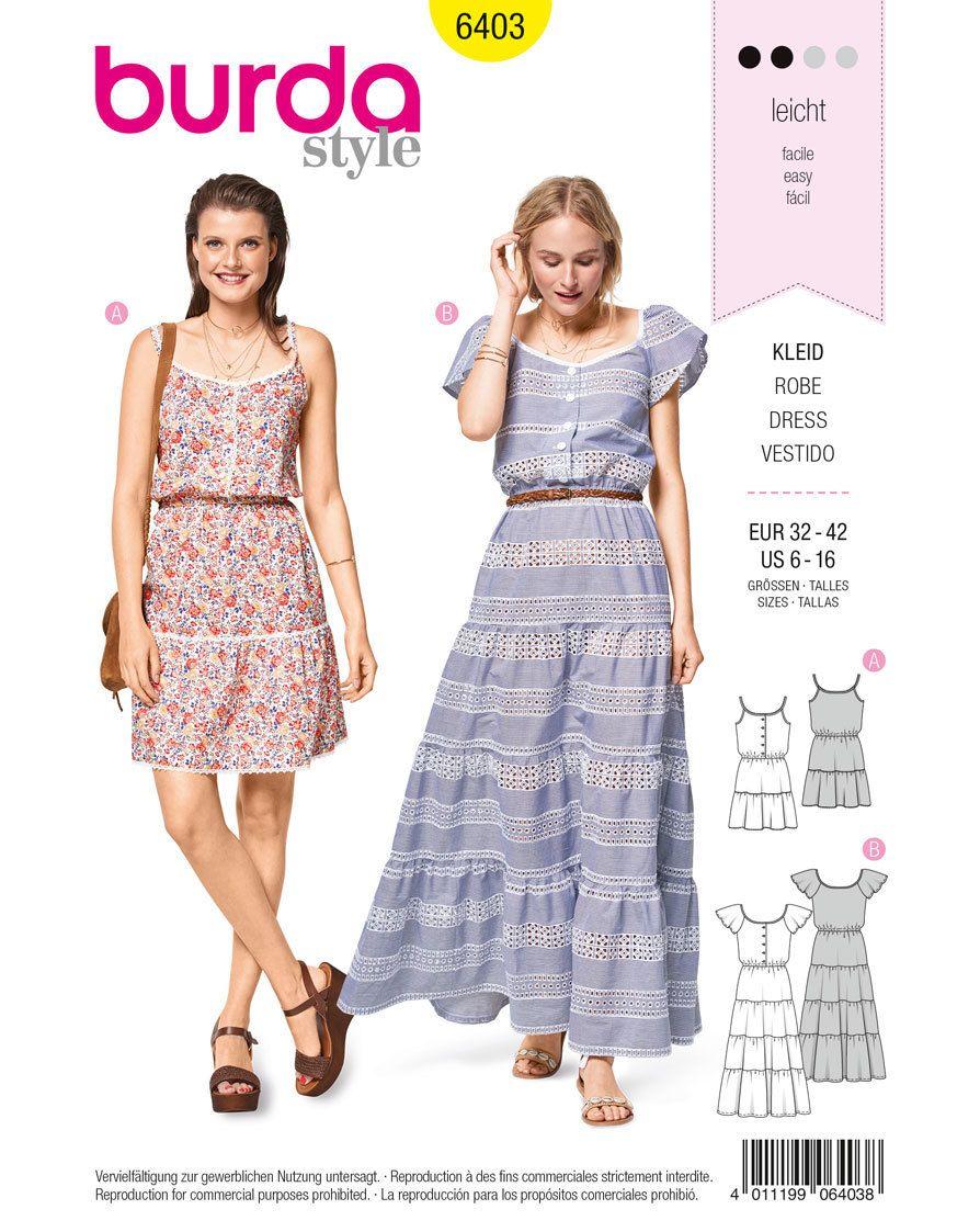 Sommerkleider F/S 2018 #6403 | Sommerkleider, sonnige Tage und Burda ...
