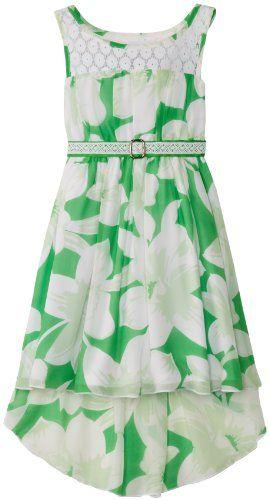 Bonnie Jean Girls 7-16 Sleeveless Printed Chiffon Hi-Low, Green, 7 Bonnie Jean,http://www.amazon.com/dp/B00GN5R87E/ref=cm_sw_r_pi_dp_ZLbztb1JE0595PN9
