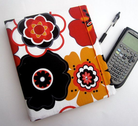 FLOWER POWER Binder Cover With Elastic Closure 3 Ring
