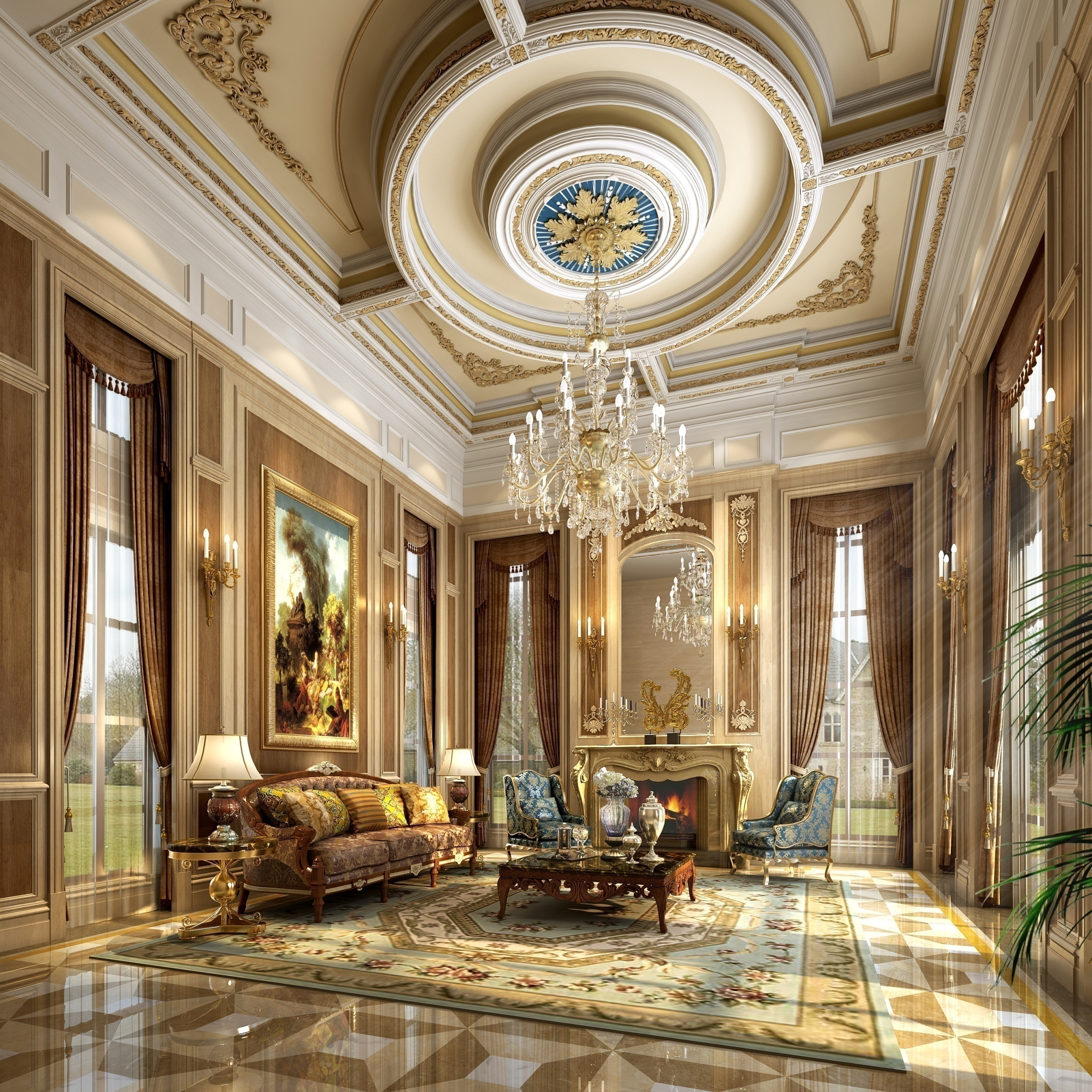 Luxury Ceiling Design Uxury Interior