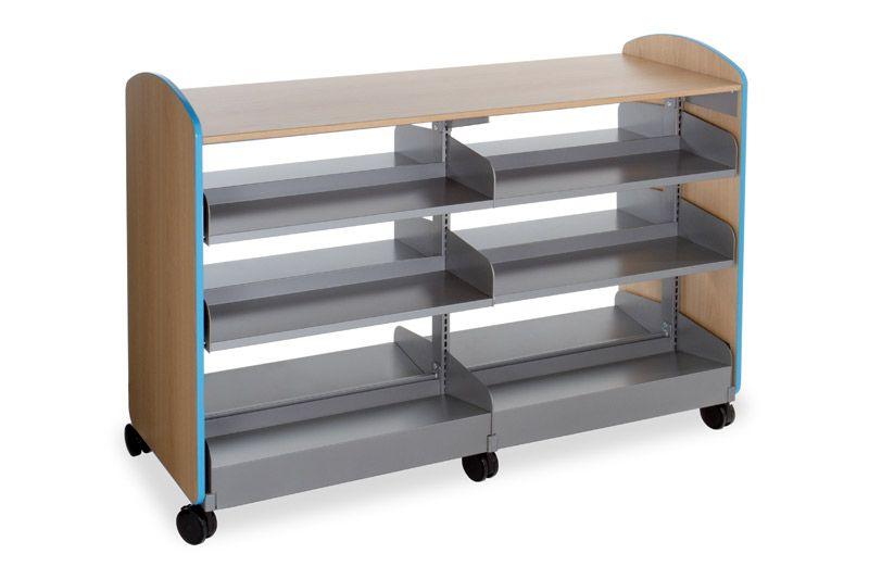 Smith System Nomad Mobile Bookshelf With 8 Flat Shelves And 4 Sloped Base This Is The Monster Truck Of Storage Shelving
