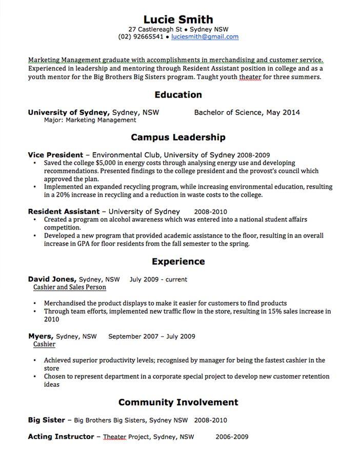 Cv Template Australia Cv Template Pinterest Resume, Cv