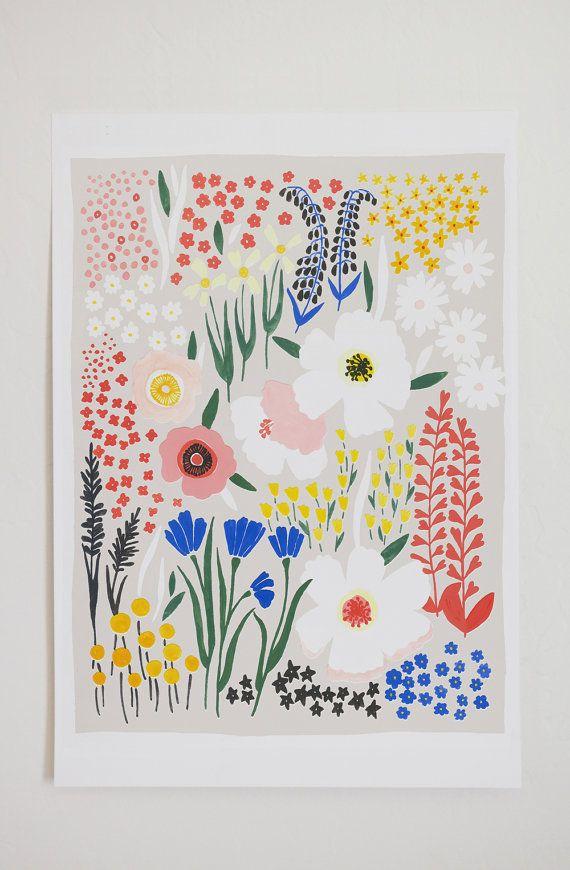 anemone garden art print 12x16 art pinterest grădini și desene