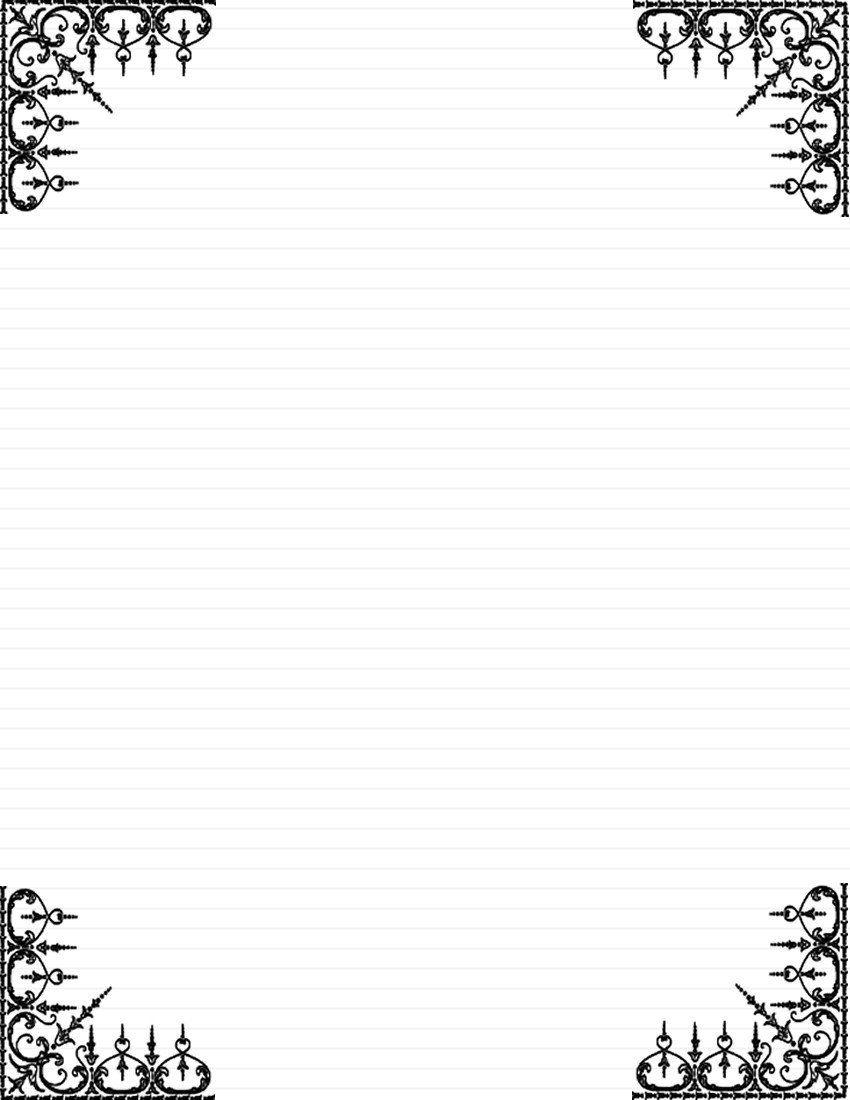 Free Printable Elegant Stationery Templates Day 5 Write A