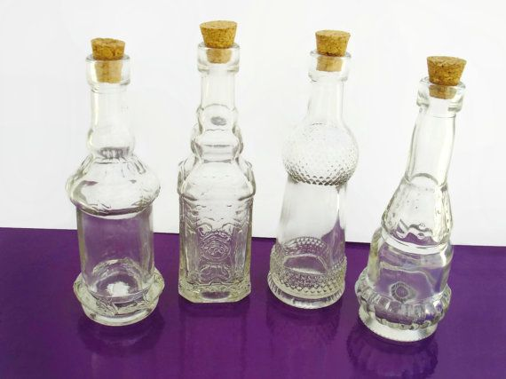 Decorative Clear Glass Bottles Beauteous X8 50Ml Glass Containers With Corks Decorativeshoptocreate Design Decoration