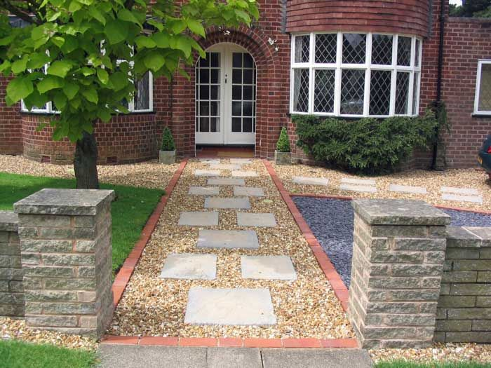 Paving Designs For Front Gardens small front garden designs A Large Low Maintenance Front Garden With Planning Friendly Parking Space