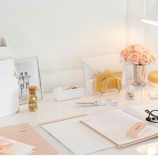 Pretty blush and gold office supplies from sugar paper and target blush target