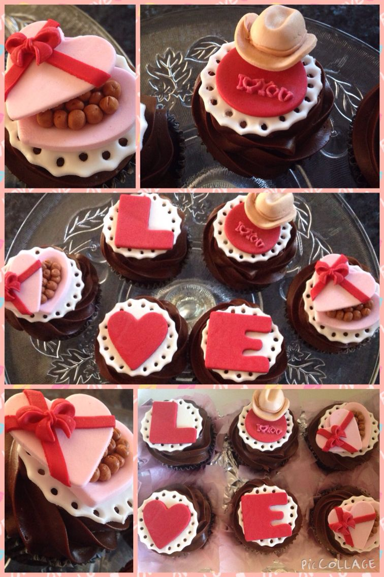 My Cute Valentine S Day Love Cupcakes Devils Food Chocolate Cupcakes