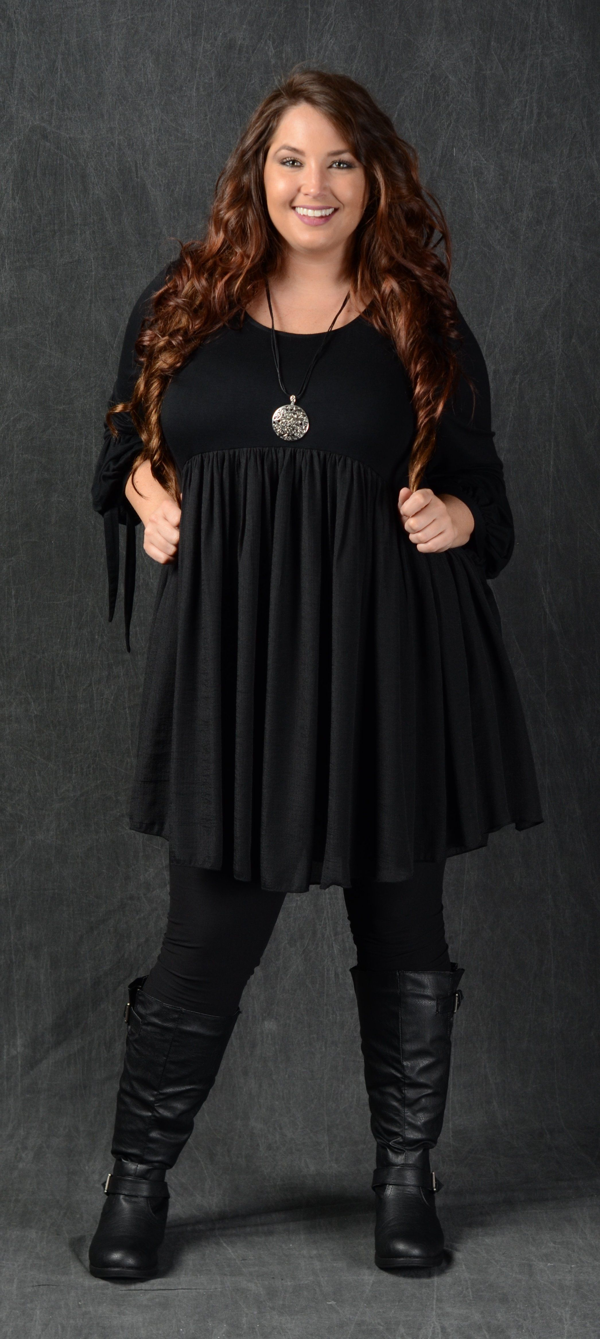 Black Tunic Dress in 2019 | Products | Black tunic dress, Black ...