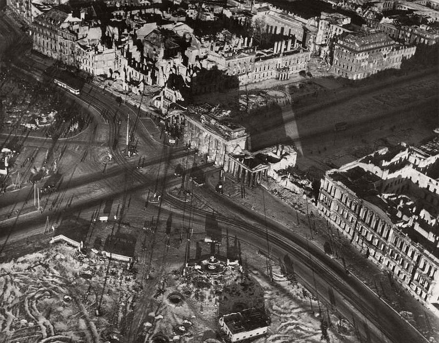 Great Vintage Aerial Photos of Berlin Germany after World War II u