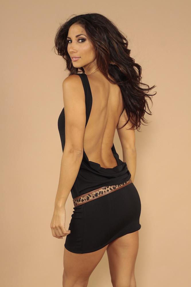 Sleeveless backless dress BLACK #shortbacklessdress