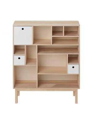 Stellingkast Wit Hout.Bloomingville Kast 3 Deuren Wit Hout Furniture Modern Bookcase