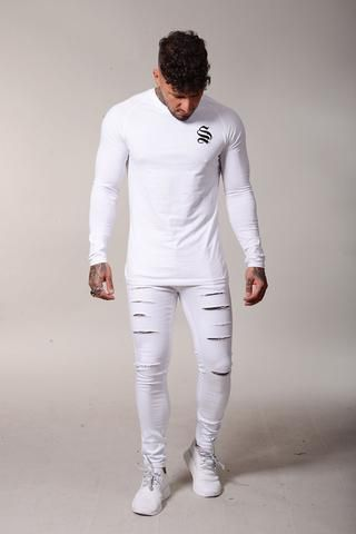 8cfb9c2c SINNERS ATTIRE ULTRA RIPPED SKINNY JEANS - WHITE | Jeans | Jeans ...