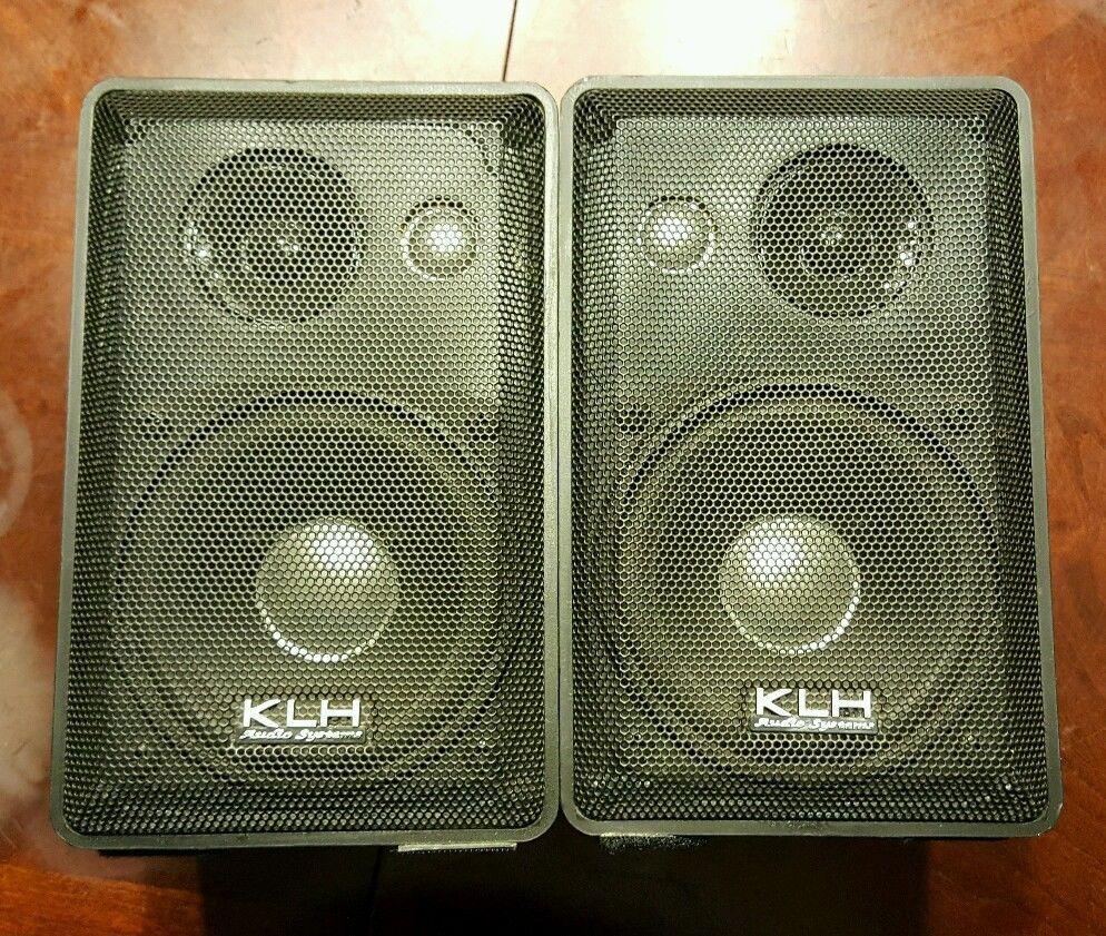 Pair Of KLH Audio System 979B Indoor Outdoor Bookshelf 3 Way Speakers