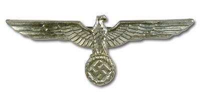 WW2 German Army Breast Eagle -   REICH Metal Insignia   German army