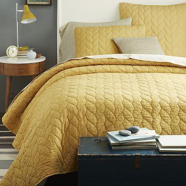 Braided Quilt Amp Shams Yellow Bedding Braid Quilt White Linen Bedding