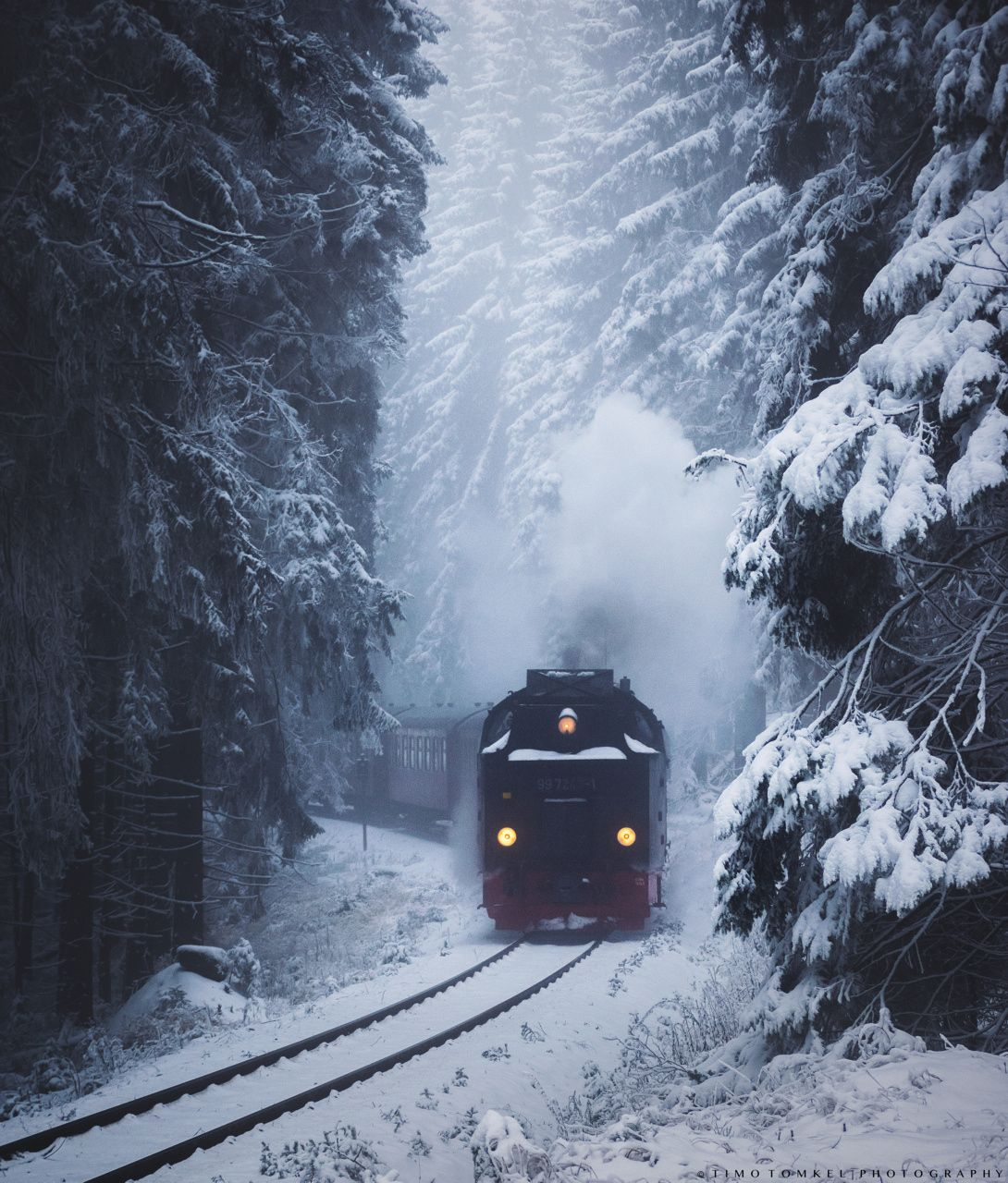 The Last Train Winter Snow Photography Winter Snow Wallpaper Winter Scenery Hd wallpaper winter snow train forest