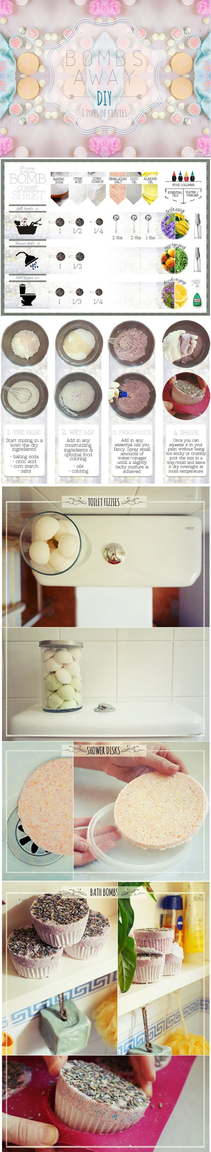 Bathroom cleaner bomb - How To Diy Bath Shower And Toilet Fizzies Diy Bath Bombs Shower Fizzies