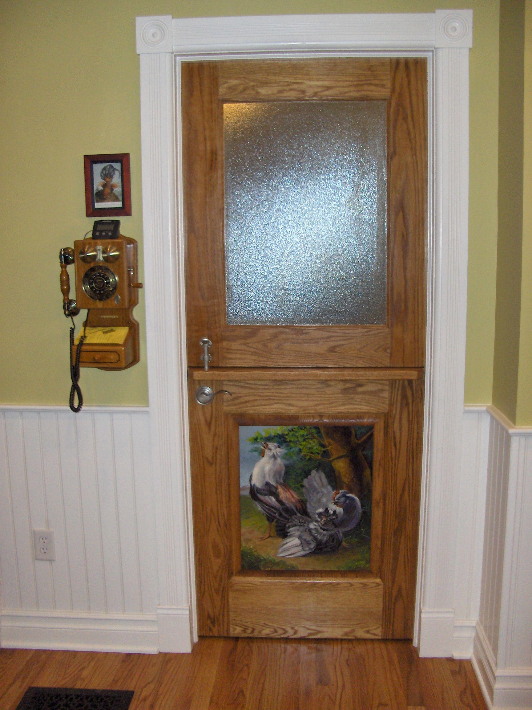 Exterior Dutch Door | Custom DD241 Round Top with Glass Panel ...