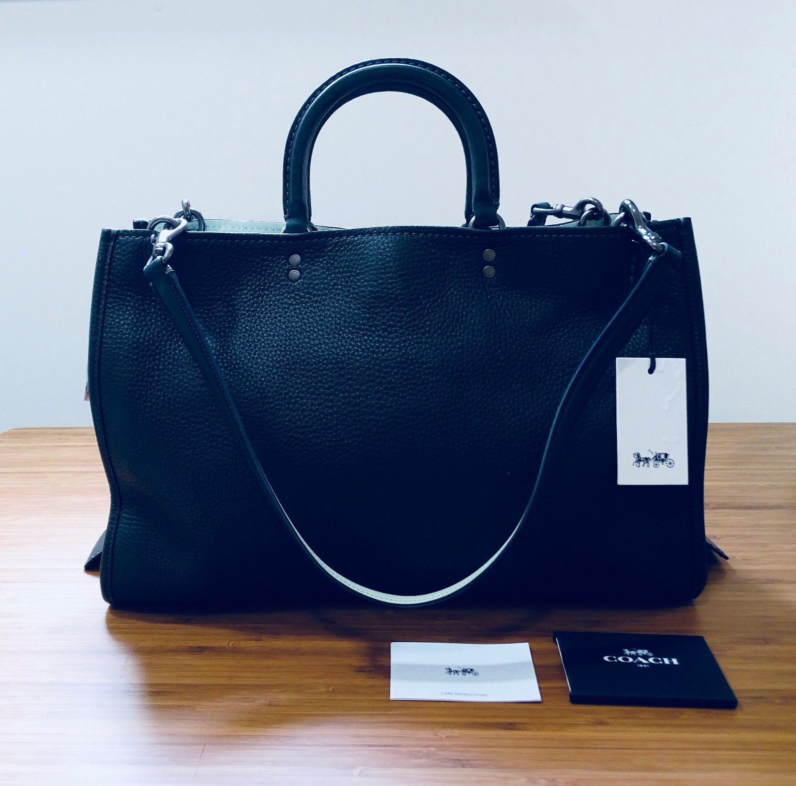 a5424efcb4a4 Coach 1941 Pebble Leather Rogue 39 Ivy Green with Black Copper Hardware  #coach #coachbags #coachhandbags