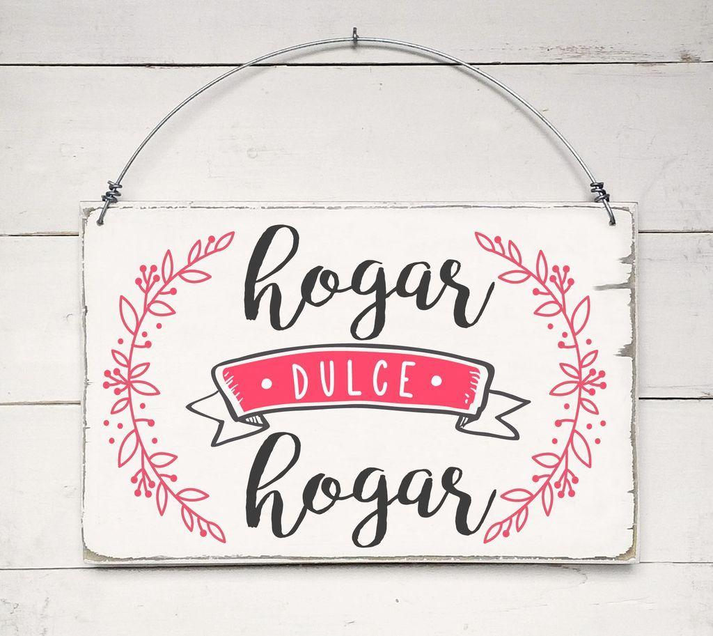 Cartel Vintage Hogar Dulce Hogar Comprar En Ondeco Cuadros
