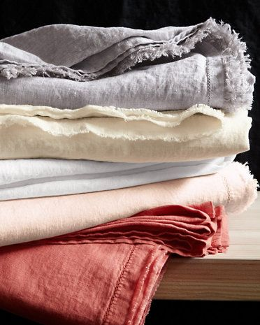 Eileen Fisher Washed Linen Collection Washed Linen Duvet Cover