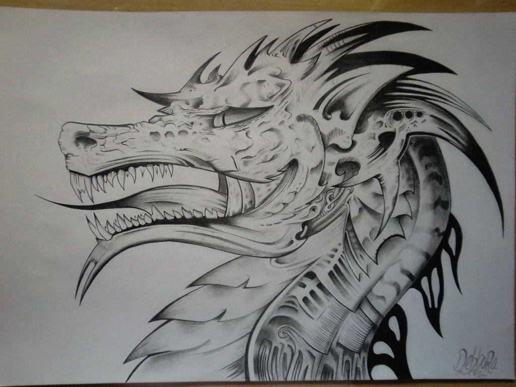 Dragon By Debbora95 On Deviantart Dibujos A Lapiz Dificiles Dragon Para Dibujar Dragones