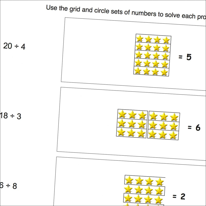 Picture Math Division Division Random Grid