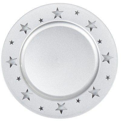 assiette de presentation ronde noire motifs medaillon dore
