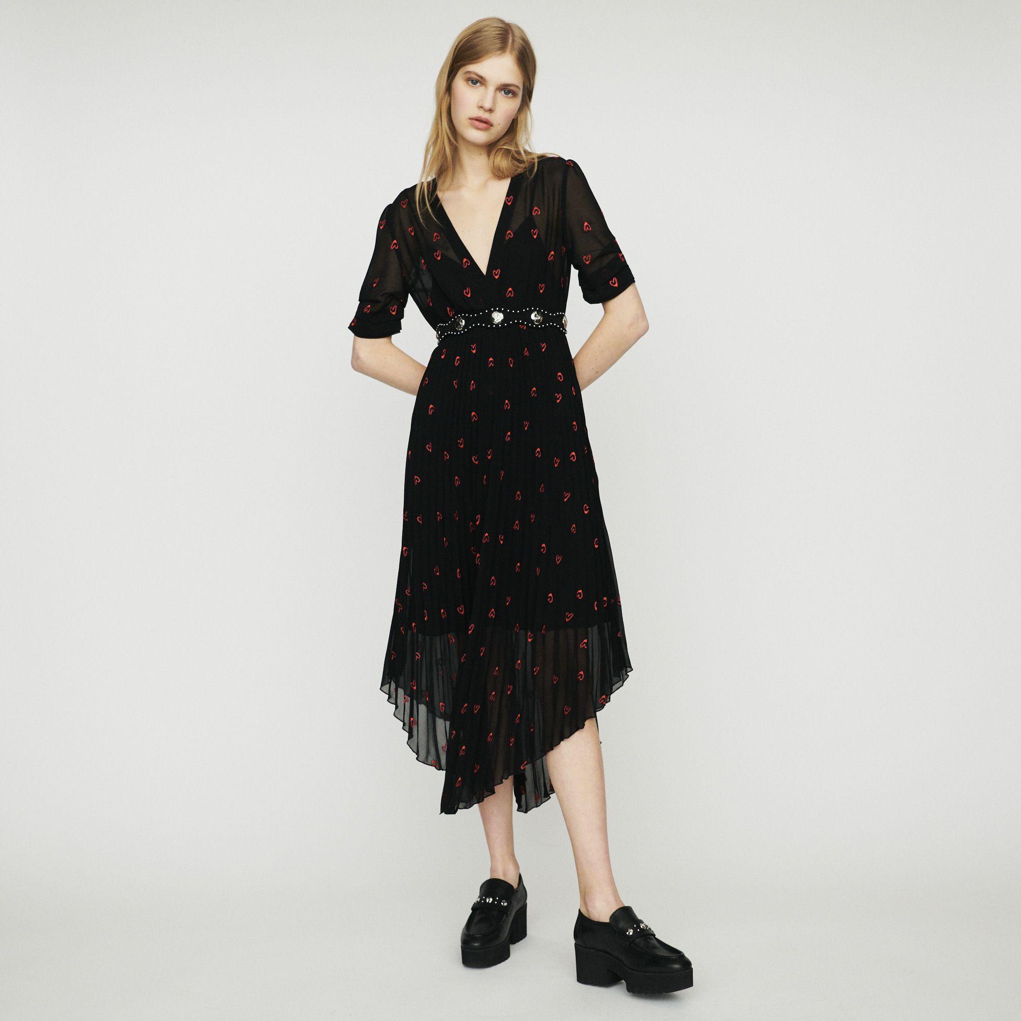 Sandro Rengo Dress   Robe plissée, Idées vestimentaires