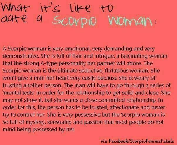 Scorpio woman dating a scorpio man