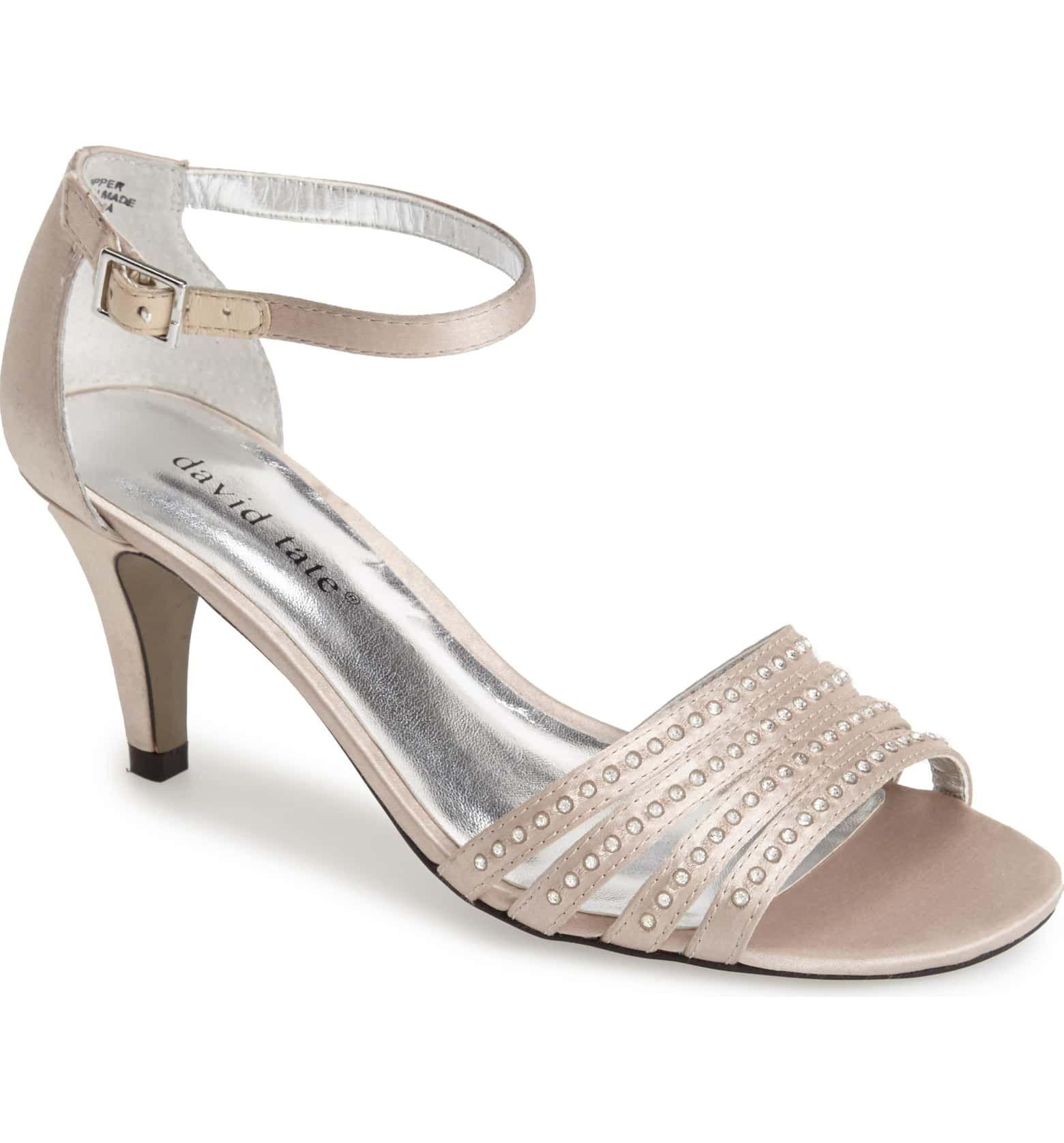 Terra' Ankle Strap Sandal in Champagne