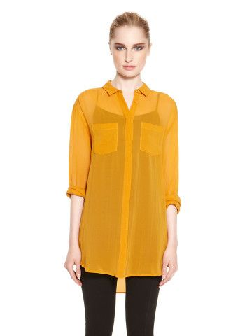 Button Front Blouse - DKNY