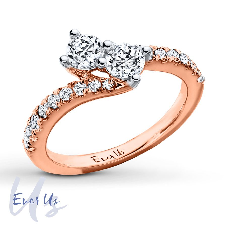 Jared Ever Us TwoStone Ring 1 ct tw Diamonds 14K Rose Gold