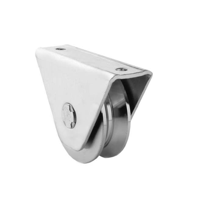 Herrajes para puertas polea canal 20 mm v con caja - Carril para puerta corredera ...