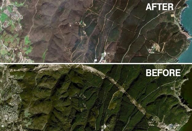 A comparison of 20 satellite photos hosted by Google Earth reveals how Istanbul has changed with more concrete and less green spaces in the past decade