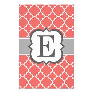 Monogram Letter E Custom Stationery Monogram Letter E Stationery Templates Monogram Letters Lettering Custom Stationery