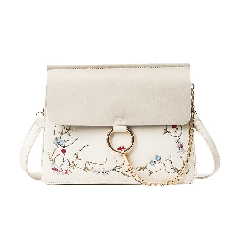 Women Flowers Embroidery Envelope Shoulder Bag Ladies Round Circle ... 05d7f59755214