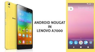 Update Lenovo A7000 Nougat 7 1 Unofficial ROM – AOSP N image