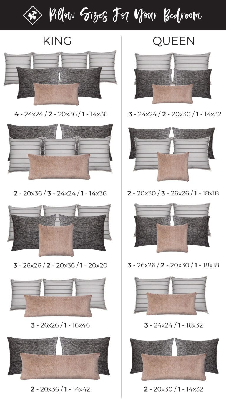 Pillow Sizing Guide | Construction2style