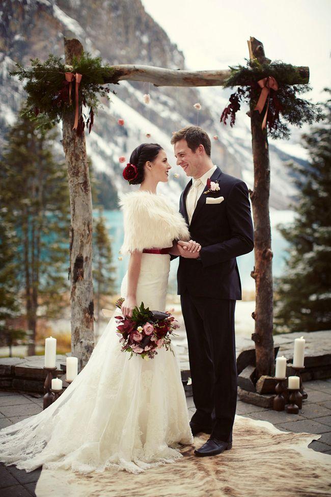 Winter wonderland wedding elegance